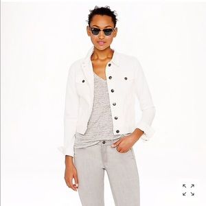 J. Crew Nolita Denim Jacket - White